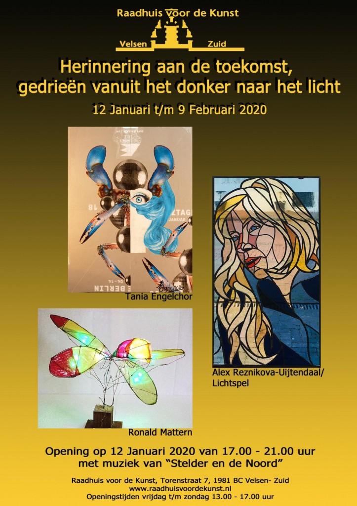 Drie kunstenaars exposeren in Oud-Velsen