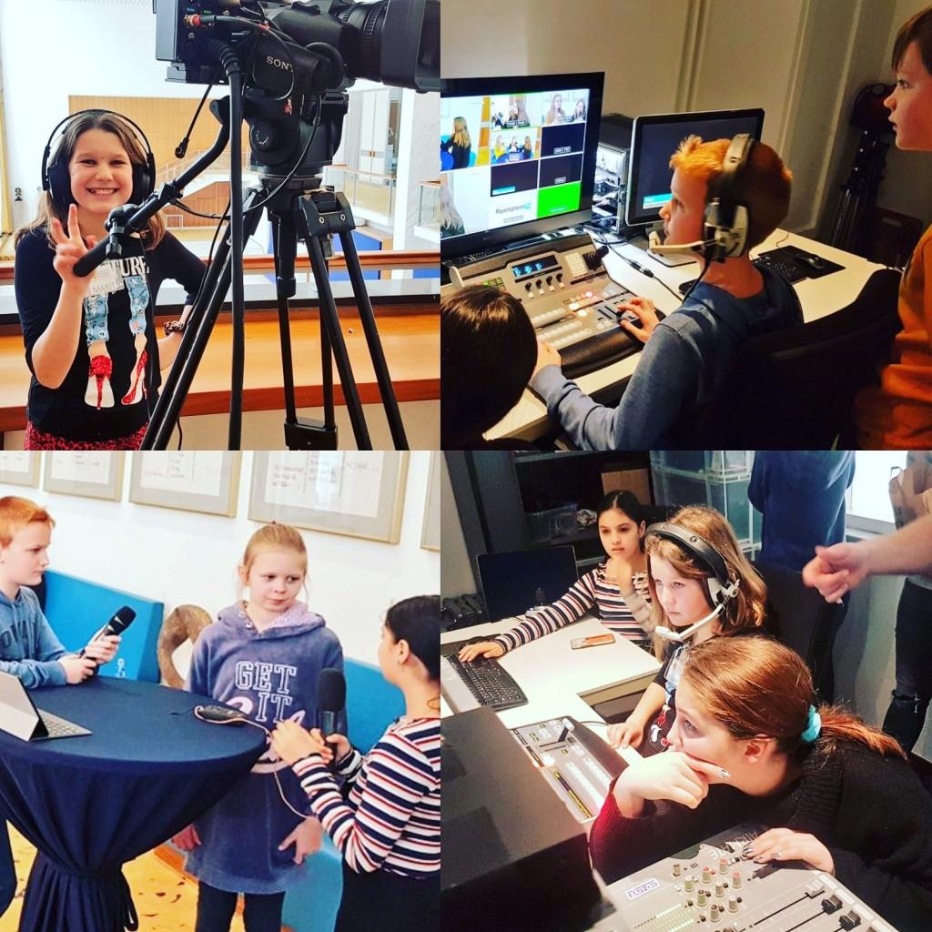 Junior Academy bezoekt Raadsplein TV