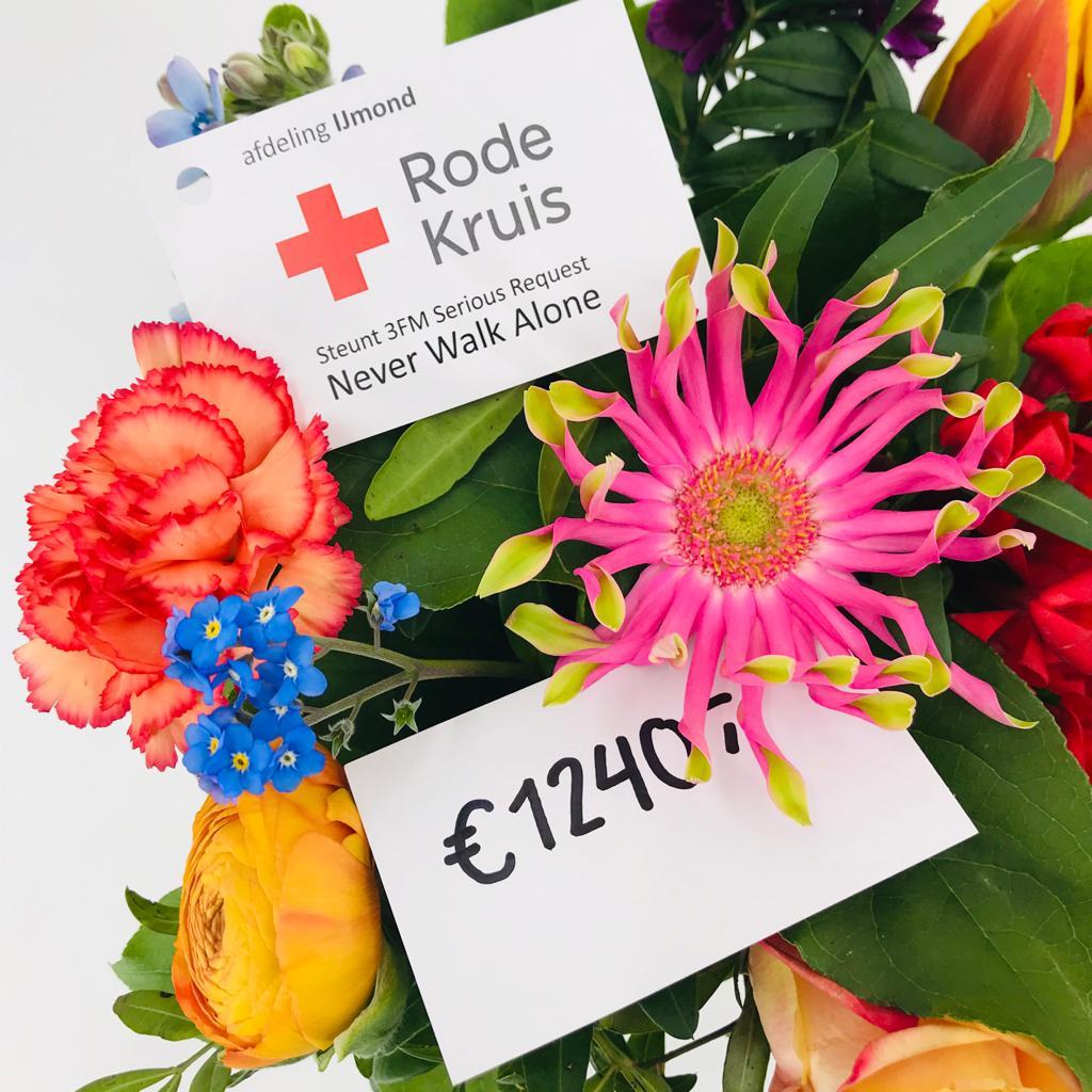 Bloemenactie levert mooi bedrag op