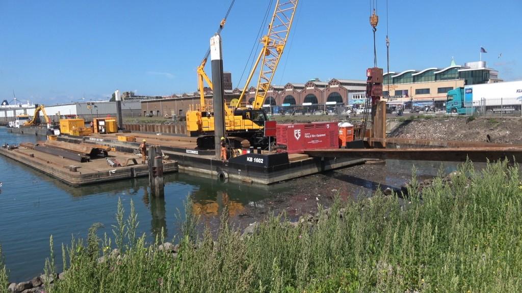 Video werkzaamheden Vissershaven en Halkade