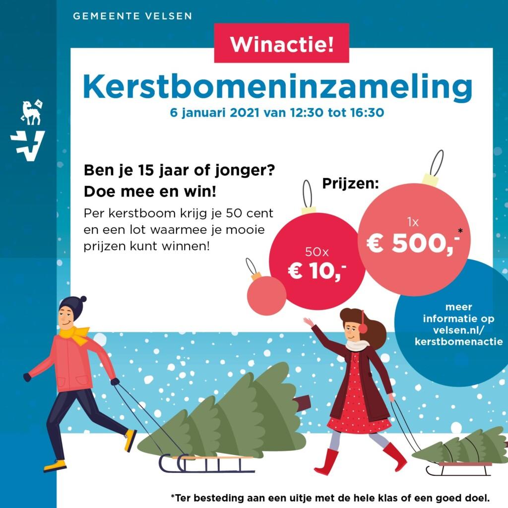 Kerstbomeninzameling in Velsen nieuwe vorm