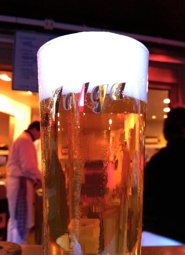 Beer at La Mer du Nord - Brussels| www.rtwgirl.com