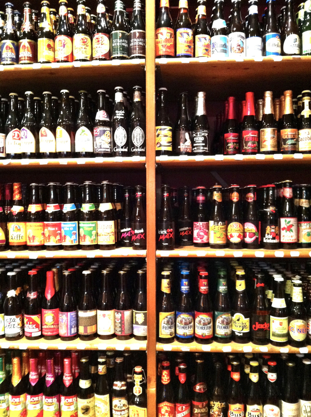 Beer wall in Bruges