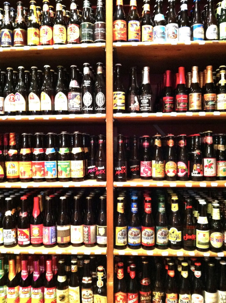 Beer wall in Bruges
