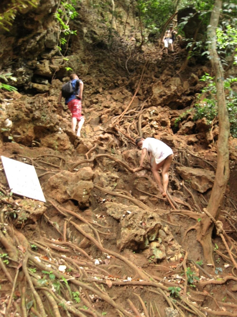 Climbing To The Railay Beach Viewpoint