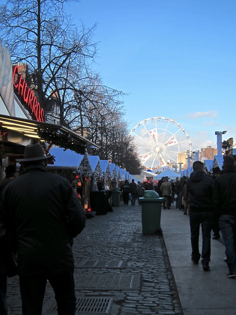 Christmas market in Brussels Belgium