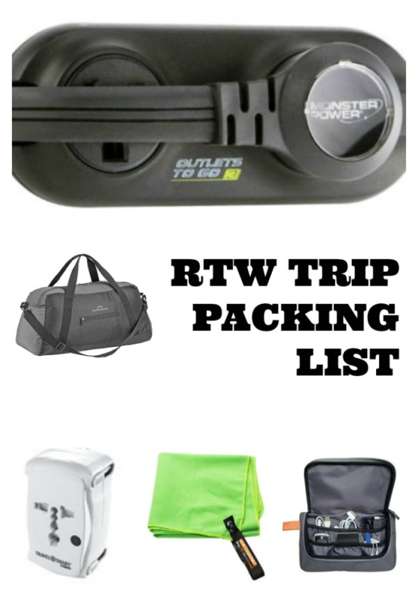 Round The World Trip Packing List