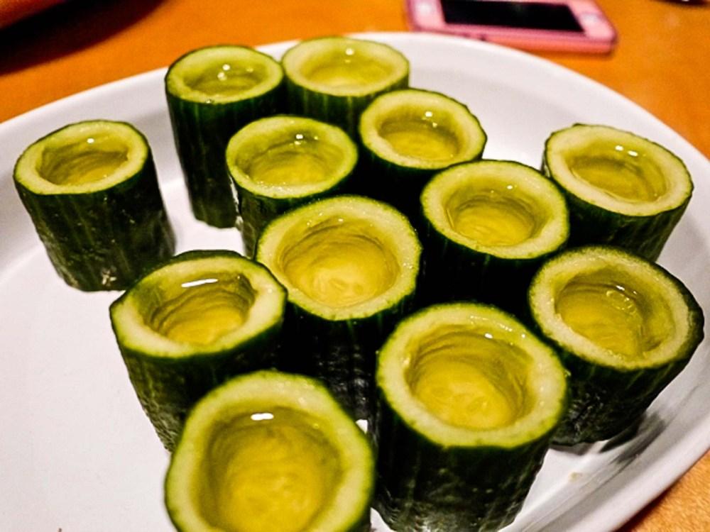 Cucumber Tequila Shots