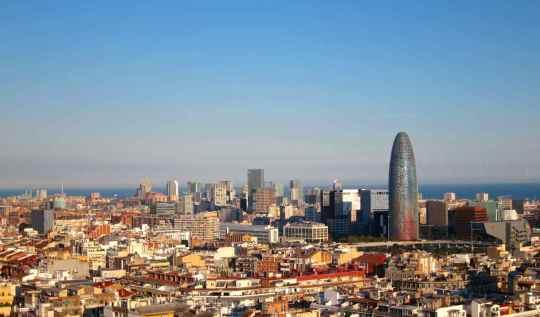 View of Barcelona from Sagrada Familia