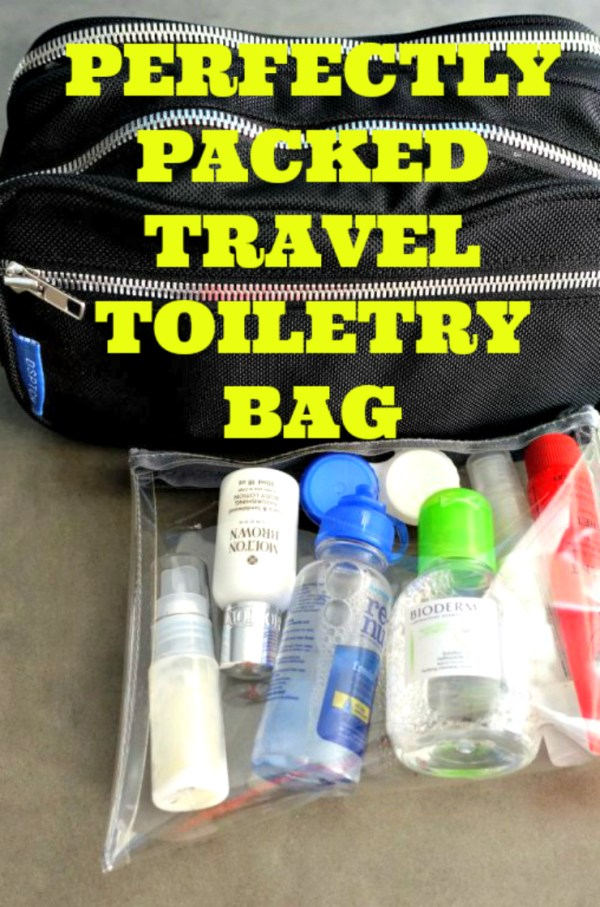 Travel Toiletry Bag Packing List