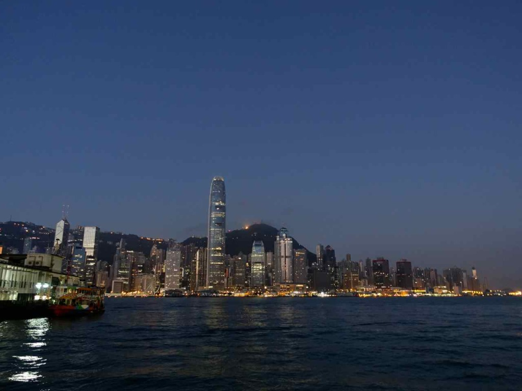 Victoria Harbour before sunrise