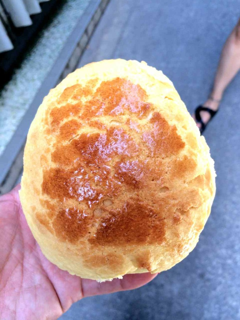 Pineapple Bun on Tai O - Lantau Island Hong Kong