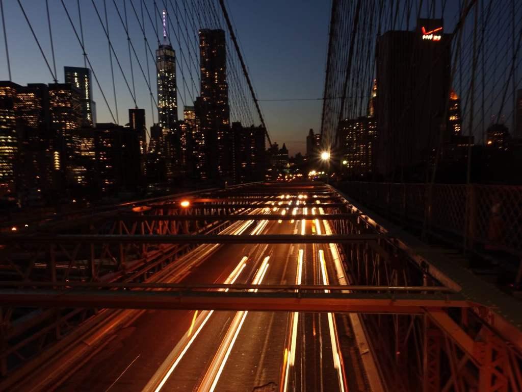 Brooklyn Bridge at night New York City | www.rtwgirl.com