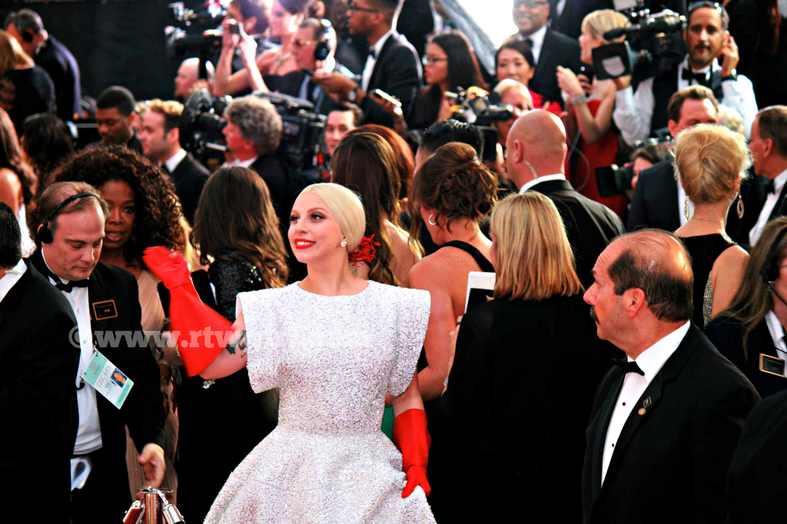 Lady Gaga Oprah Red Carpet 2015