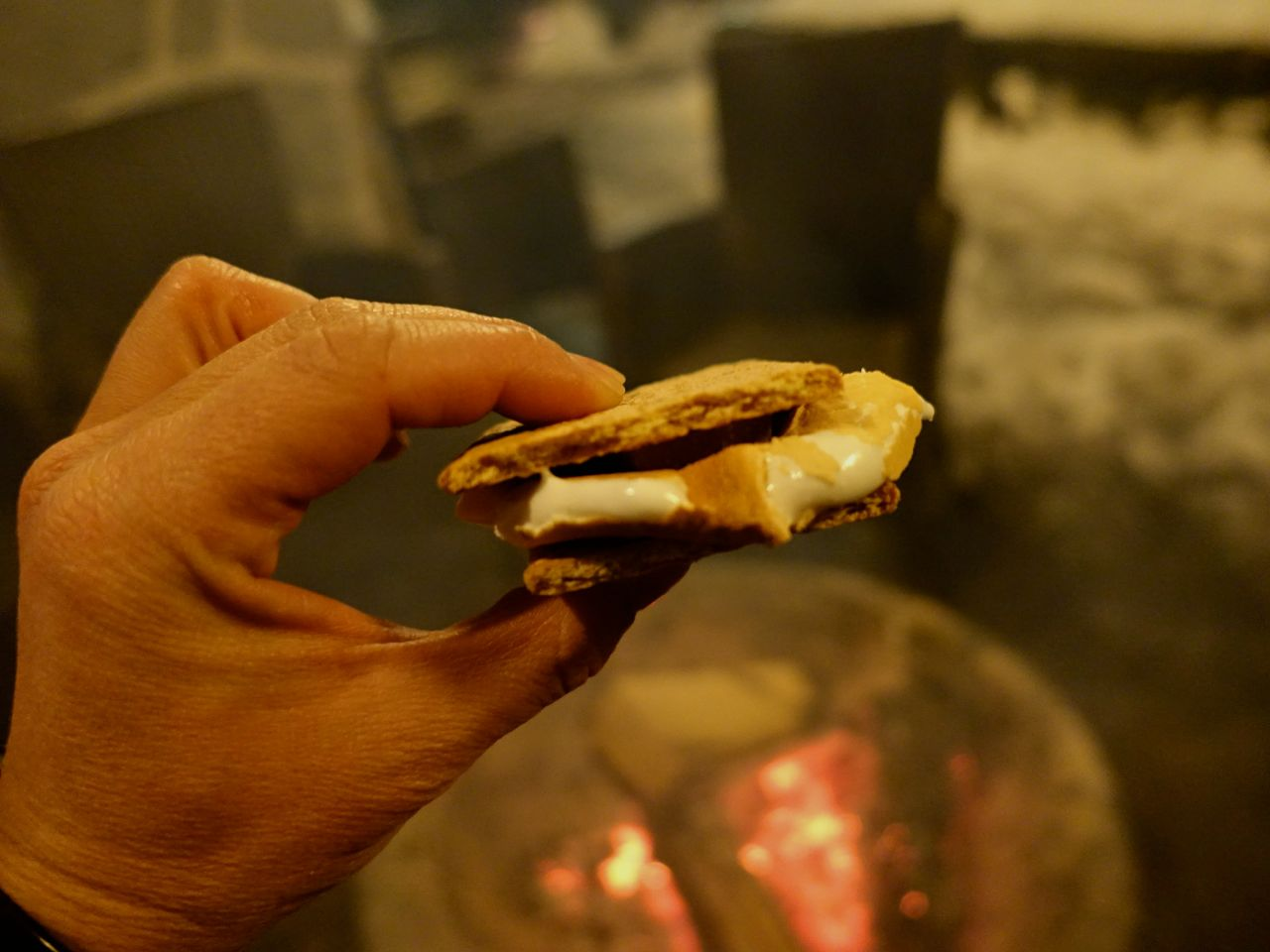 S'mores at Cure Lounge Nita Lake Lodge