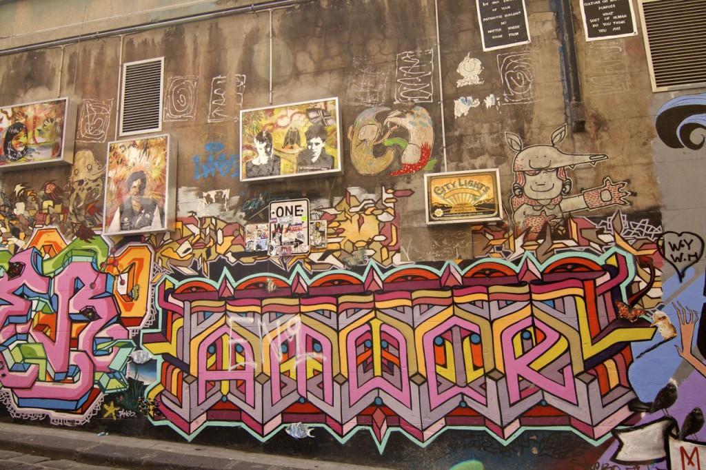 Laneway street art in Australia