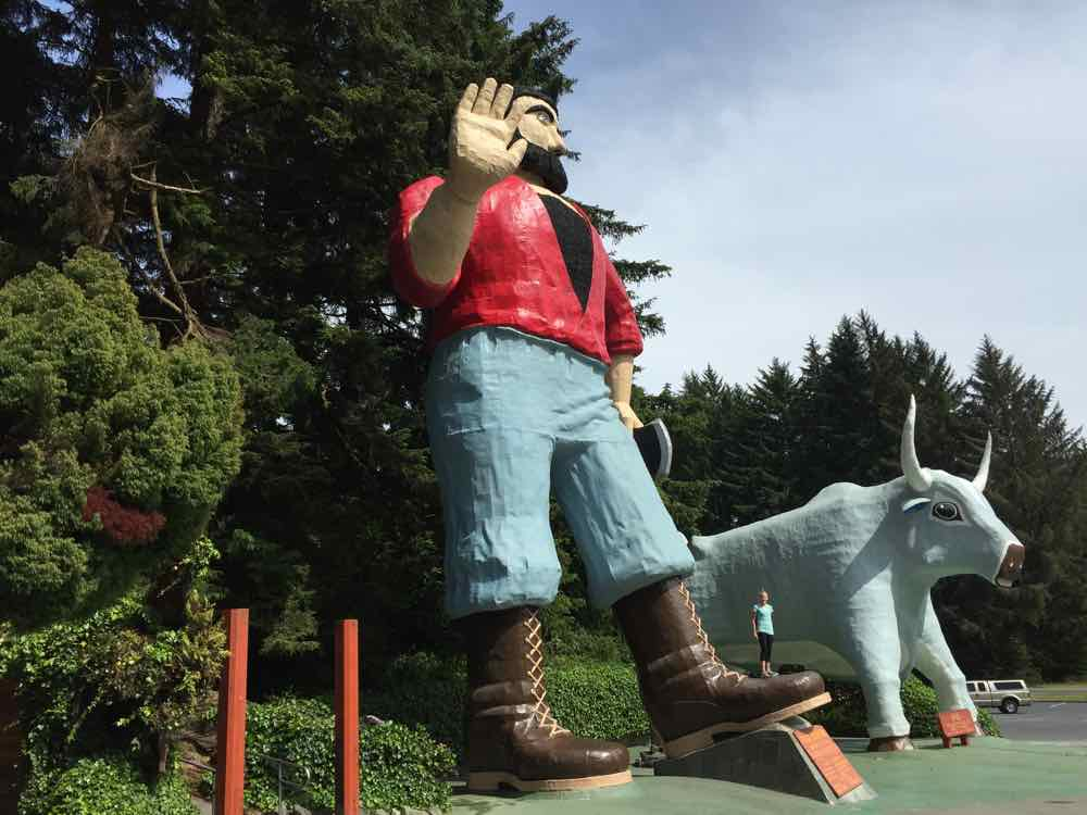 Paul Bunyan and Babe At Trees of Mystery - California Road Trip