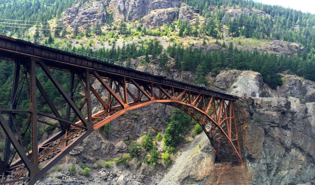 Cicsco Bridge from the Rocky Mountaineer | www.rtwgirl.com