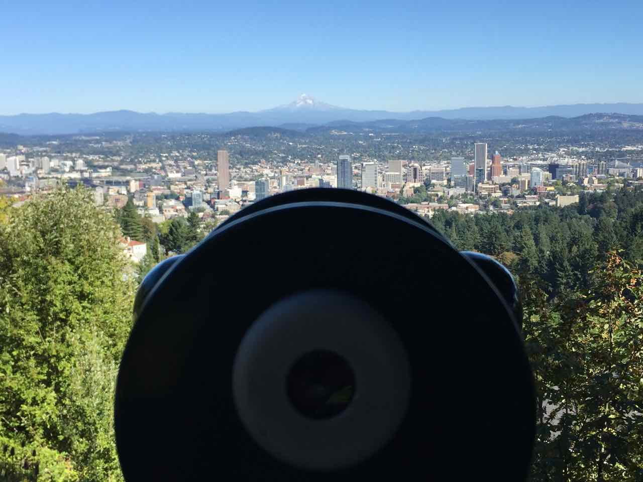 Portland View from Pittock Mansion | www.rtwgirl.com