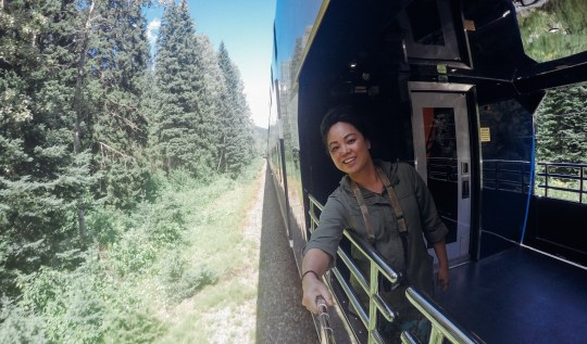 On The Rocky Mountaineer