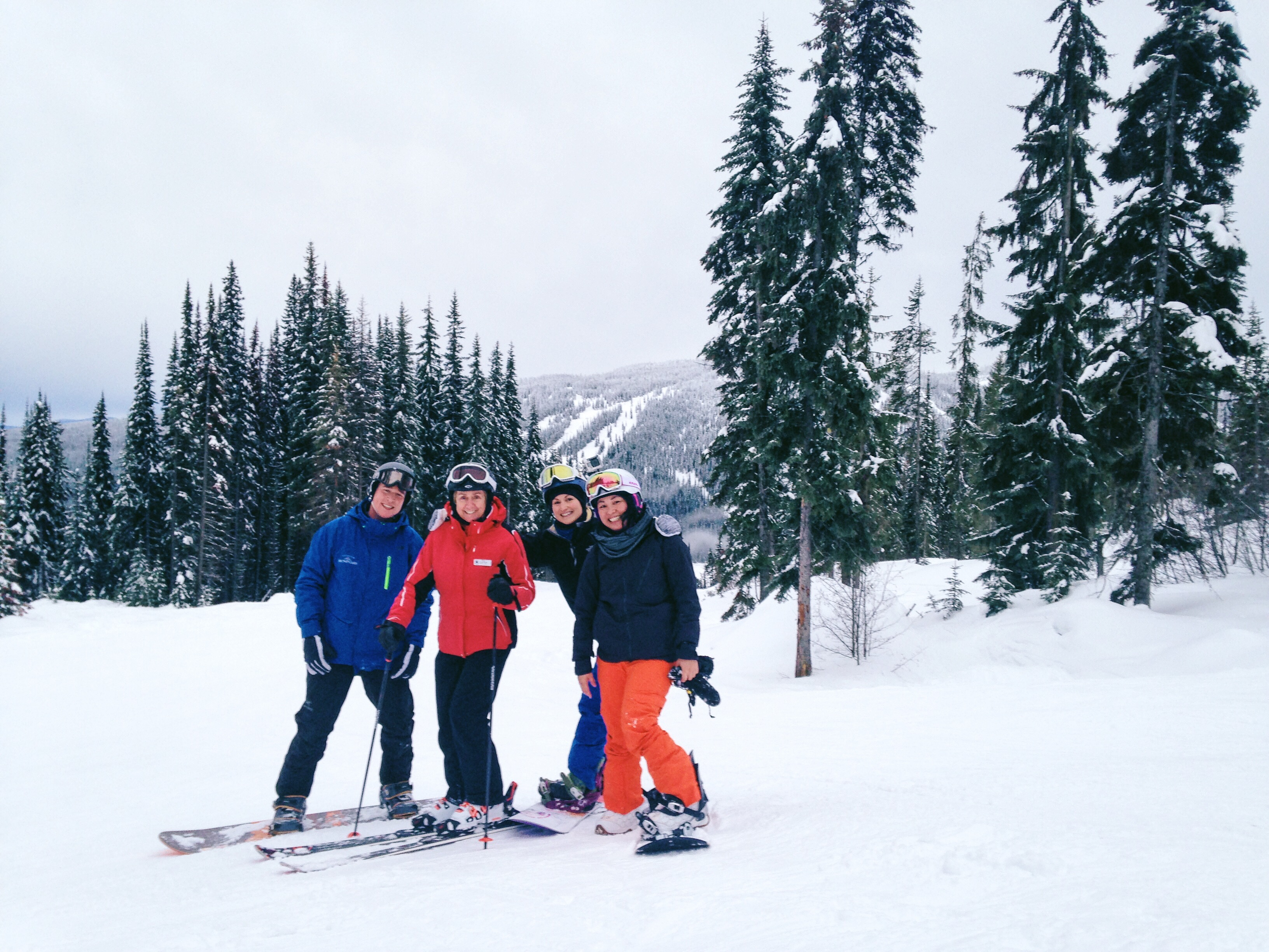 Snowboarding with Nancy Green at Sunpeaks