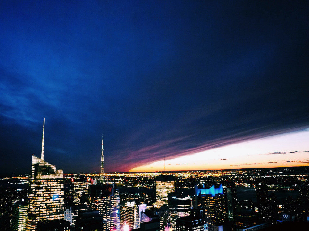epic sunset from 30 Rock - New York Photos