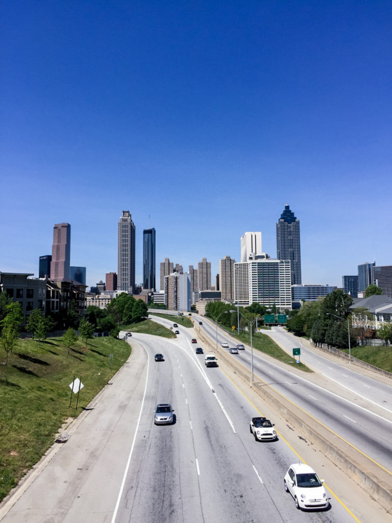 Atlanta From Jackson Street Bridge | www.rtwgirl.com