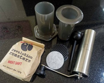 Making coffe with an Aeropress | www.rtwgirl.com.jpg