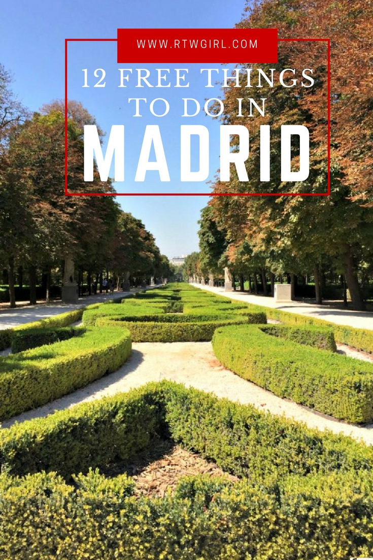 12 THINGS TO DO IN MADRID THAT ARE FREE | www.rtwgirl.com