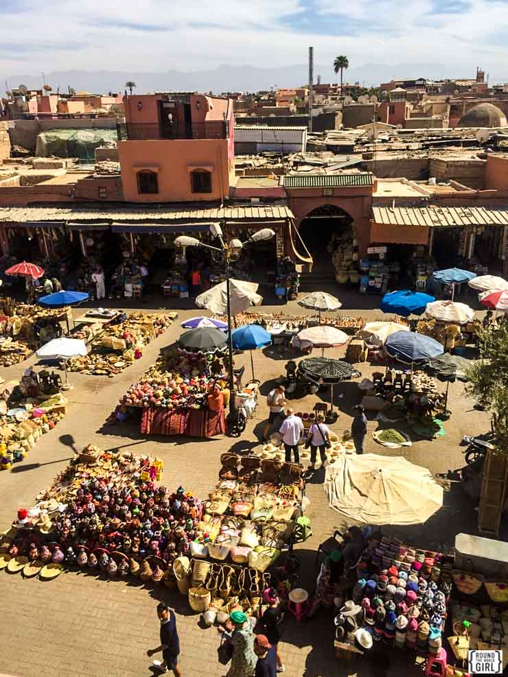 Medina View from Cafe Des Espices in Marrakech | www.rtwgirl.com
