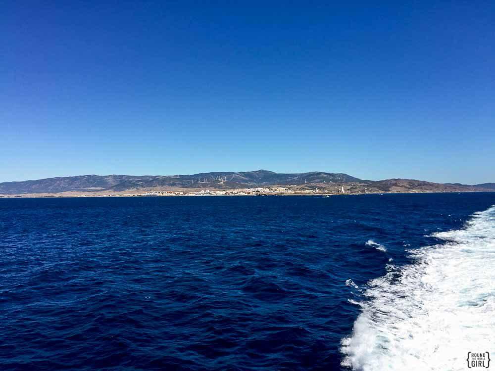 Morocco ferry crossing the Strait of Gibraltar | www.rtwgirl.com