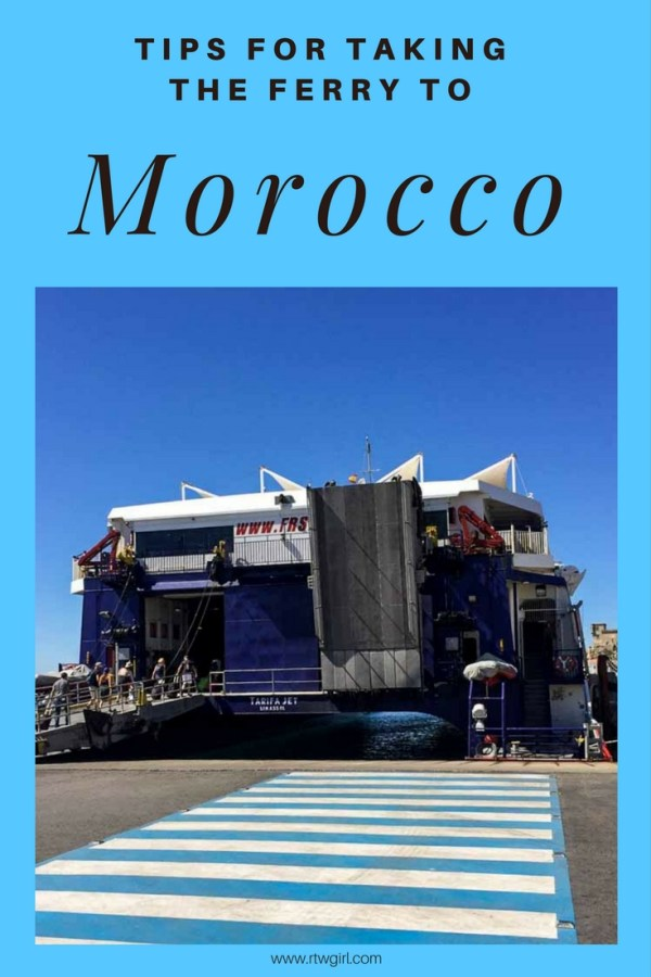 Helpful tips for taking the ferry to Morocco