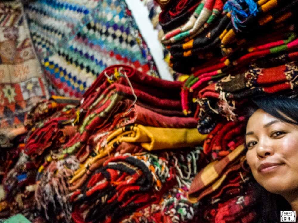 Carpet shopping in Morocco