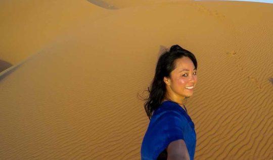 GoPro Sahara Desert Selfie at Erg Chebbi - Morocco