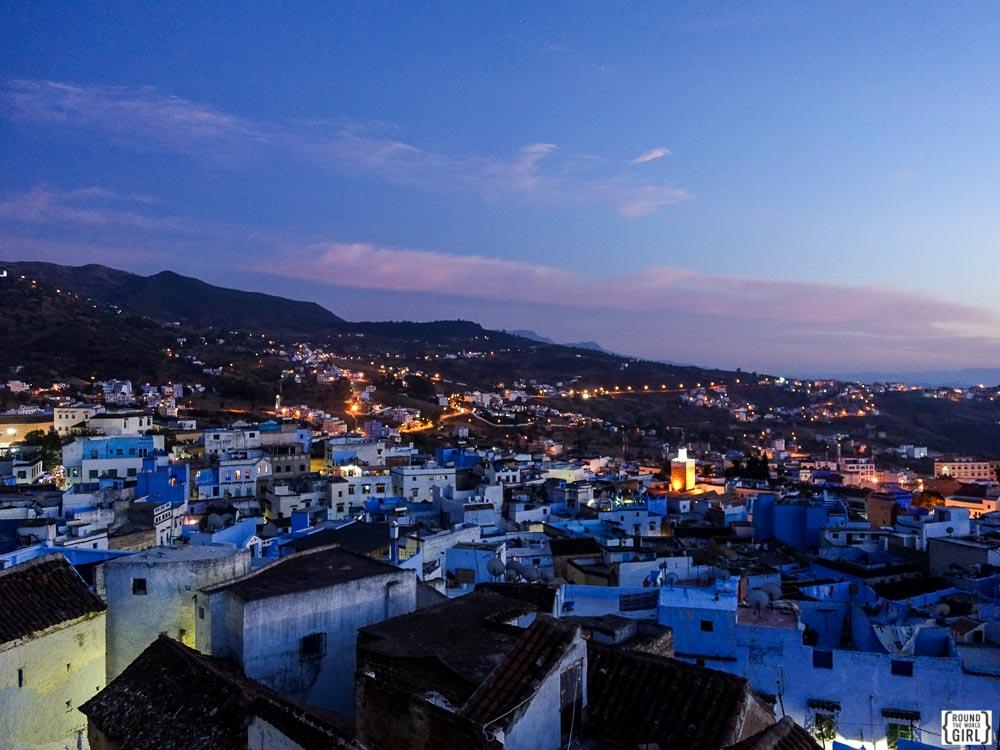 Blue City View from Casa Perleta