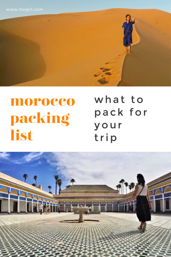 Morocco Packing List | rtwgirl
