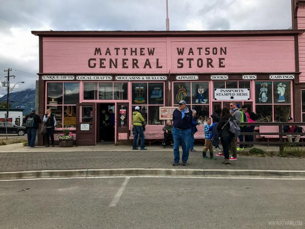 Matthew Watson General Store Carcross Yukon in Carcross | http://www.rtwgirl.com