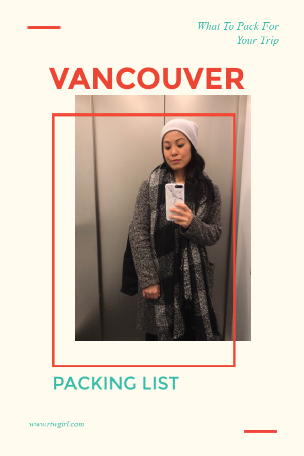 Vancouver Packing List - What To Bring On Your Vancouver Trip