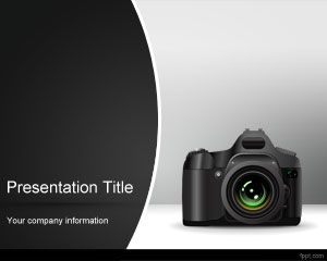 Photo Camera template powerpoint untuk presentasi