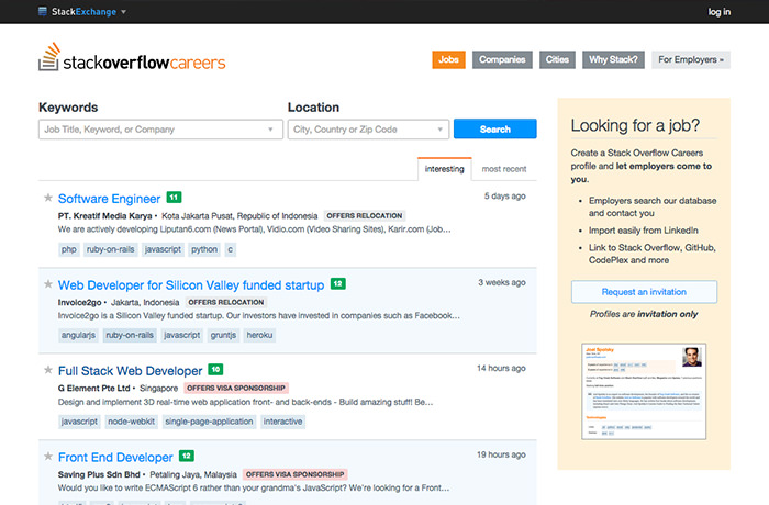 Stackoverflow / Ruang Freelance