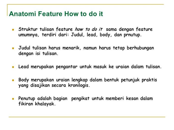 How-to-do Feature