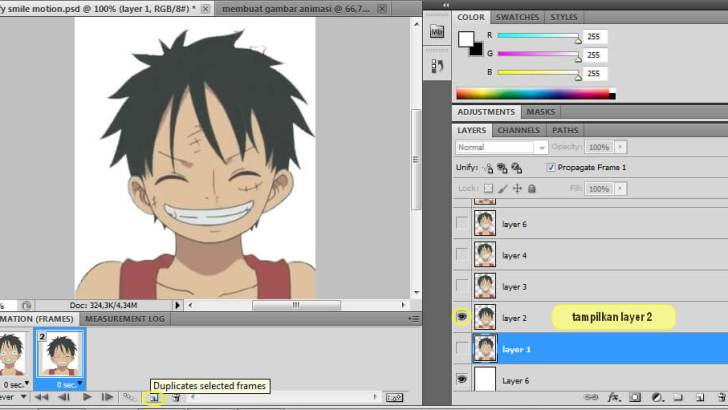8 Cara Membuat Animasi dengan Format GIF Menggunakan Photoshop - http://restupratama192.blogspot.com
