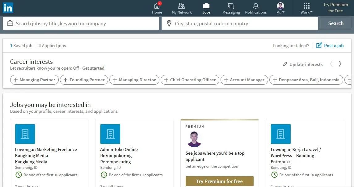 LinkedIn - Lowongan Kerja