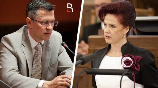Айнарс Латковскис и Солвита Аболтиня / Коллаж RuBaltic.Ru
