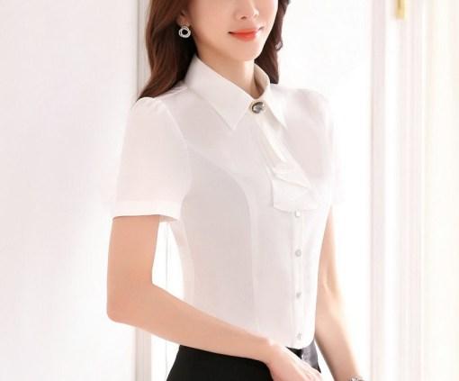 Блузка женская 171752 молочный цвет