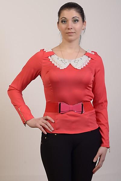 Блуза женская 1233 коралловый цвет