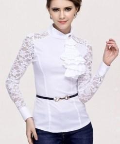 Блуза женская 1238 белый цвет