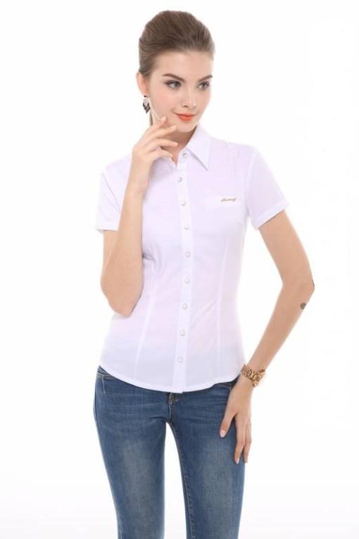 Блузка женская 13105 белый цвет