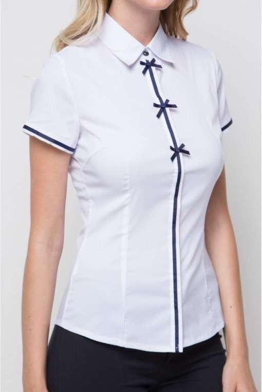 Блузка женская 13122-1 белый цвет