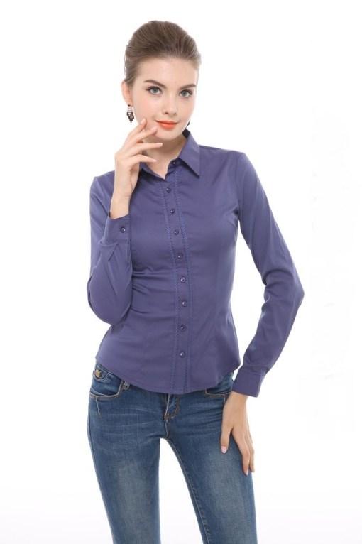Блузка женская 13208 темно-синий цвет